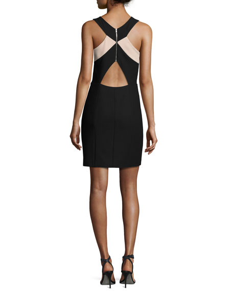 Elliot Sleeveless Ponte Mini Dress, Black