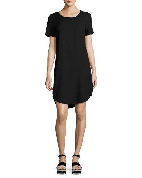 Jersey Pocket Tee Dress, Black
