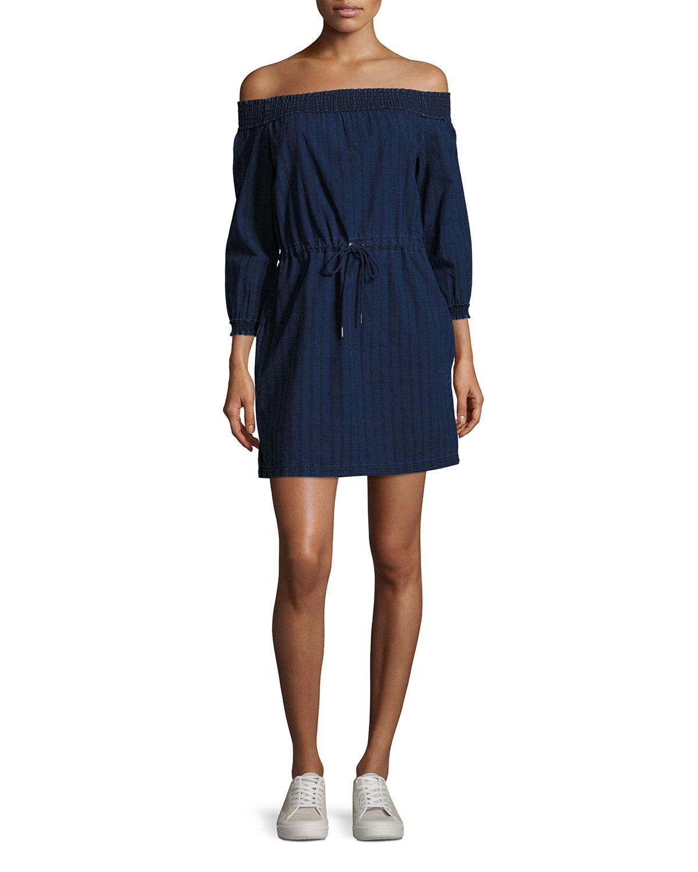 4ea825fc3a rag   bone JEAN Drew Off-the-Shoulder Dress