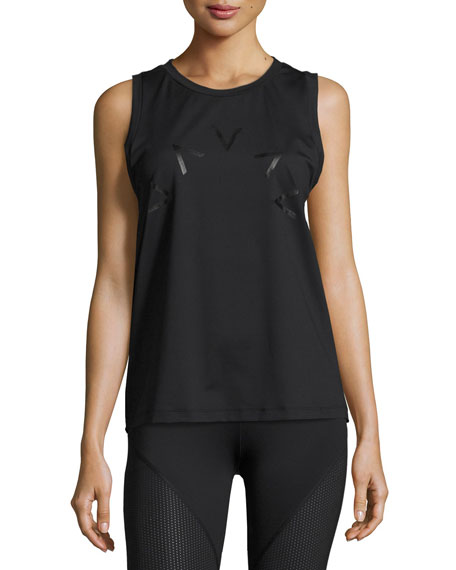 Varley Rudy Technical Vest Muscle Tank, Black