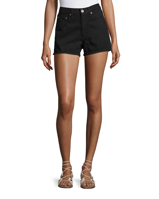 af6a3f2e5ba5e rag   bone JEAN Justine High-Rise Denim Shorts