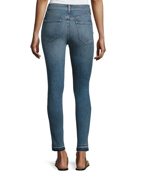 Dive High-Rise Colorblock Capri Jeans, Indigo