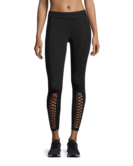Phoebe Crisscross Leggings, Black