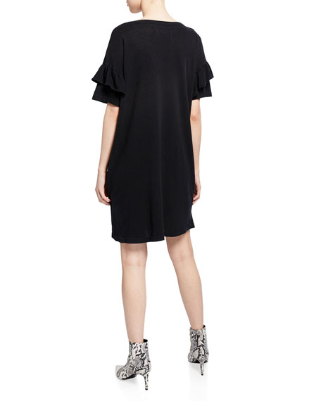 The Ruffle Roadie T-Shirt Dress