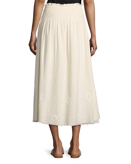 The Rancher Convertible Maxi Skirt, Beige
