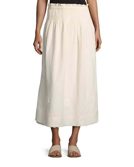 Current/Elliott The Rancher Convertible Maxi Skirt, Beige