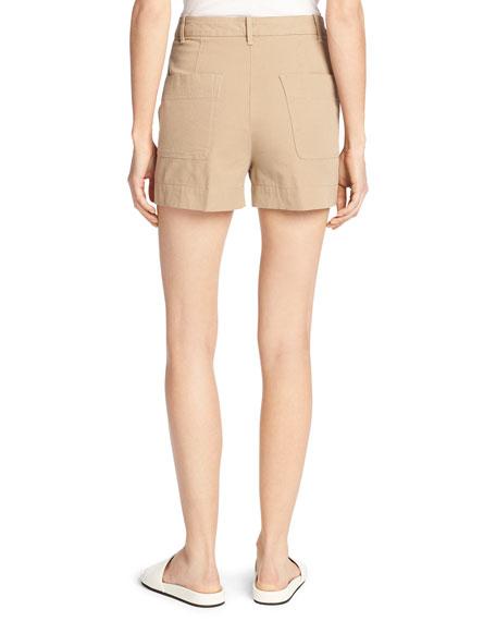 Stretch-Cotton Utility Shorts