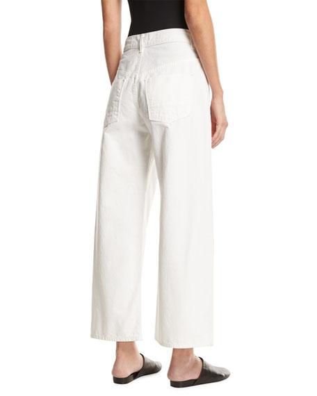 Wide-Leg Low-Waist Jeans, White