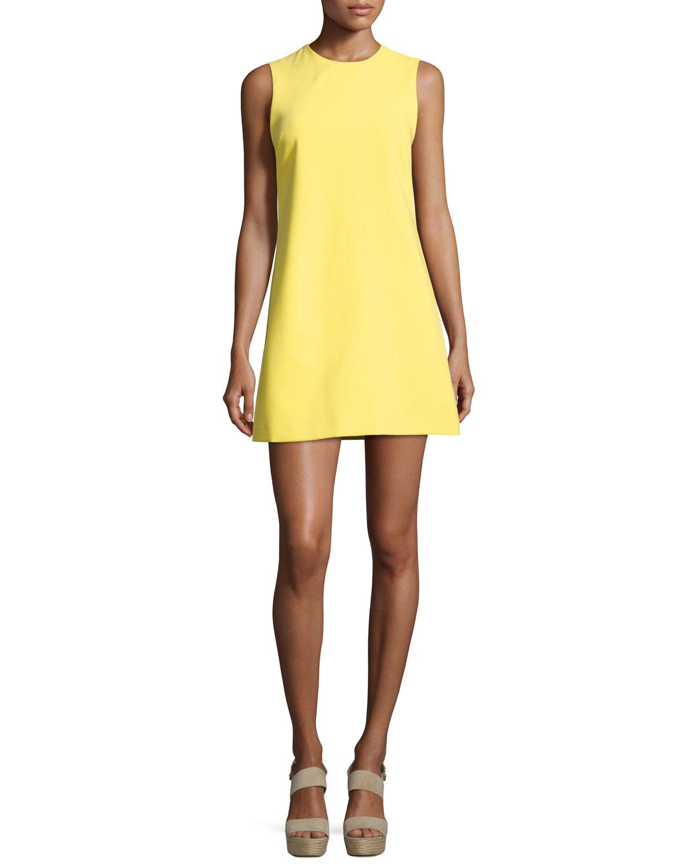 Coley Crewneck A Line Dress Yellow