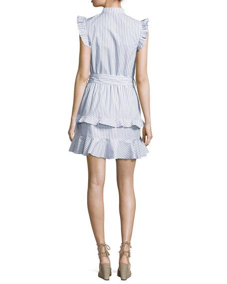 Mia Striped Shirting Dress, Navy