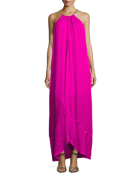Trina Turk Poinciana Sleeveless Maxi Dress, Pink