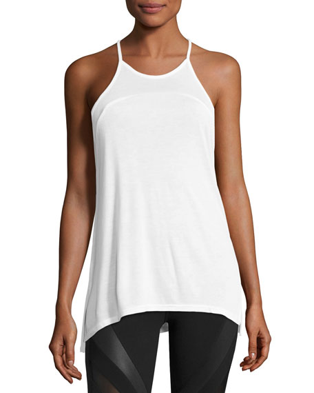 Arc Racerback Athletic Tank, White