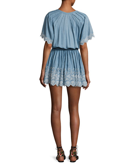 Charlie Chambray Dress, Blue