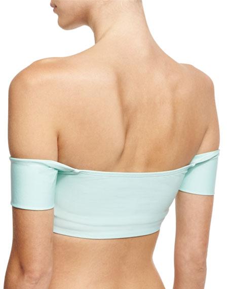 Sun Sational Off-the-Shoulder Bandini Swim Top, Green