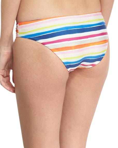 Watercolor Horizon Reversible Swim Bottom, Multicolor