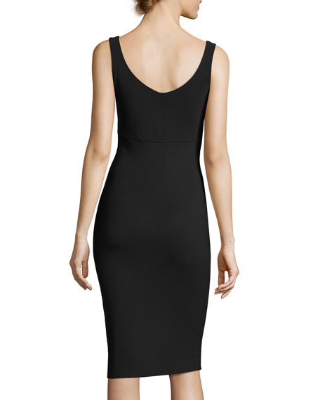 Guinevere Sleeveless Shirred Cocktail Dress