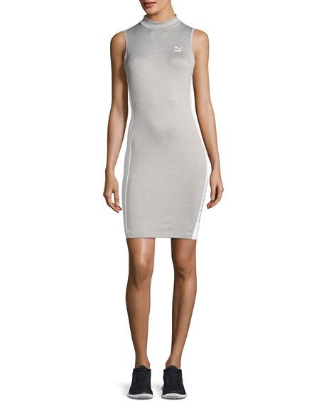Puma T7 Sleeveless Fitted Sports Dress, Light Gray