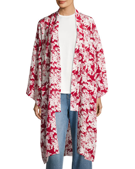 Womens Silk Jacket | Neiman Marcus | Womens Silk Coat, Ladies Silk ...