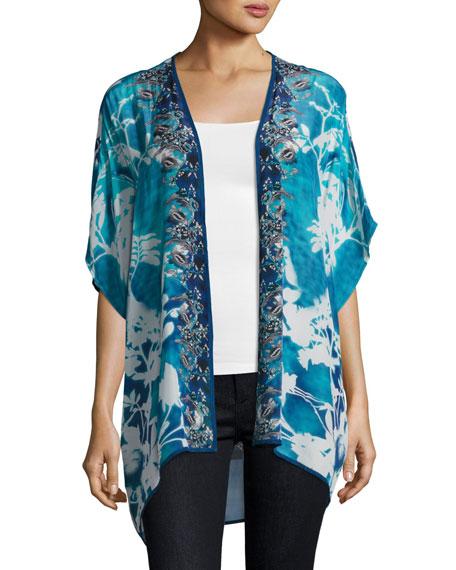 Noelle Printed Jacket, Blue