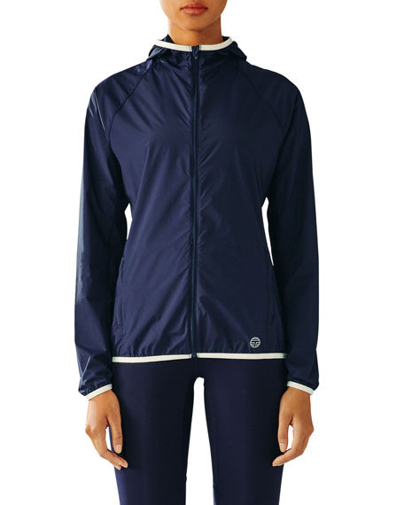 Nylon Packable Performance Jacket, Navy