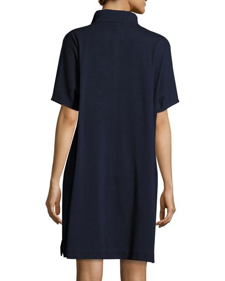 Short-Sleeve Piqué Dress