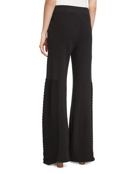Melanie Slub Terry Wide-Leg Pants