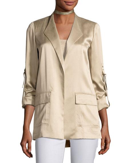 Halden Artistry Silk Open-Front Jacket
