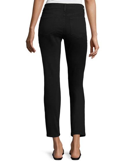 Clarissa Twill Ankle Pants, Black
