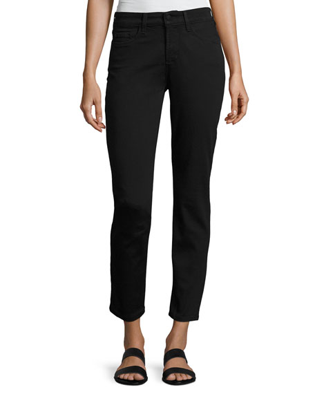 NYDJ Clarissa Twill Ankle Pants, Black