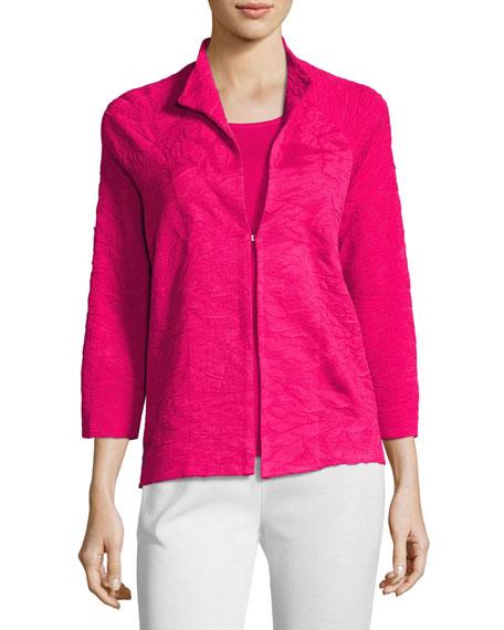 Textured 3/4-Sleeve Jacket, Petite