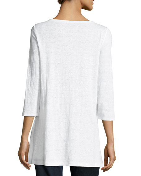 3/4-Sleeve Organic Linen Tunic
