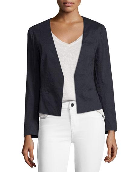 Theory Benefield Crunch Wash Jacket Blue Neiman Marcus