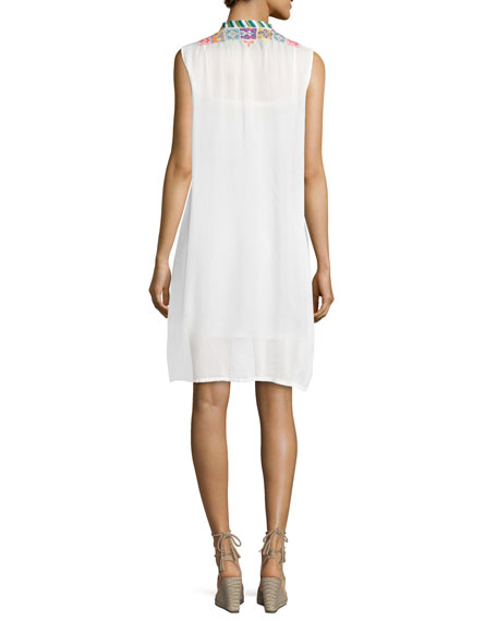 Torreya Sleeveless Georgette Dress, Plus Size