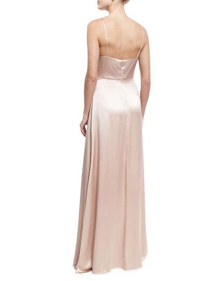 Sleeveless Satin Slip Gown