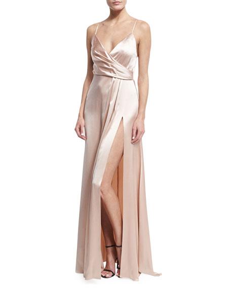 Jill Jill Stuart Sleeveless Satin Slip Gown, Pink