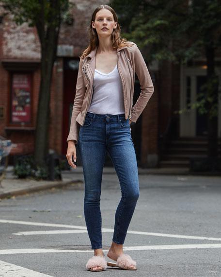 Ava Distressed Skinny Jeans, Medium Blue