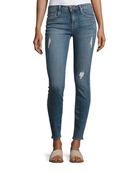 Parker Smith Ava Distressed Skinny Jeans, Medium Blue