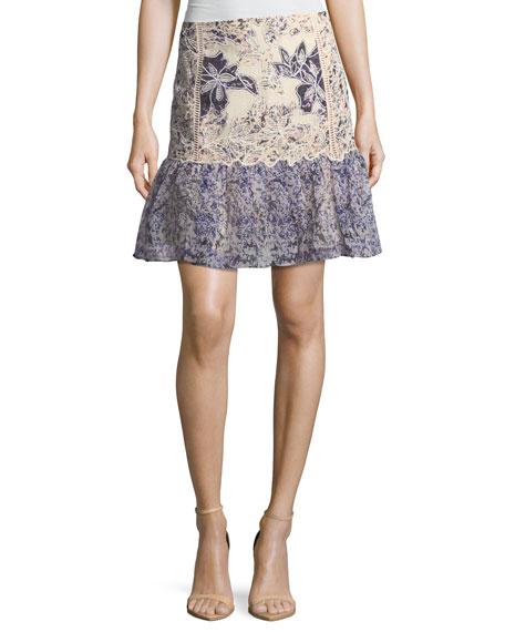 Kobi Halperin Tegan Floral Fit-&-Flare Skirt
