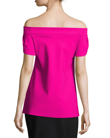 Maisie Off-the-Shoulder Fluid Jersey Top