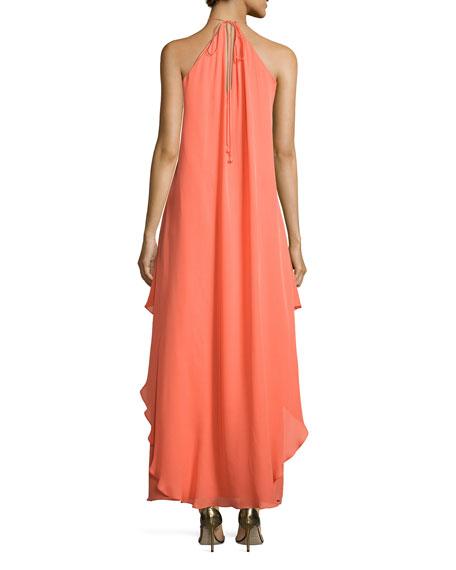 Silk Chiffon Maxi Dress