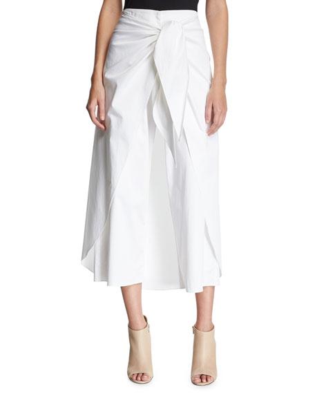 Sullivan Tie-Front Wide Leg Pants, White