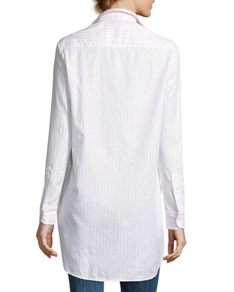 Grayson High-Low Button-Down Shirt, Pink