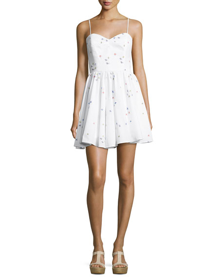 White Sweetheart Neckline Dress | Neiman Marcus