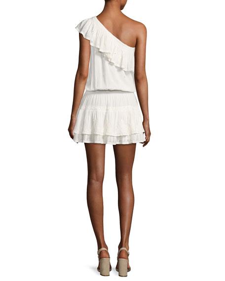 Kolda One-Shoulder Cotton Dress, White