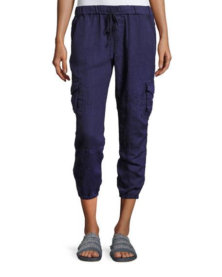 Joie Argine Linen Jogger Pants, Blue