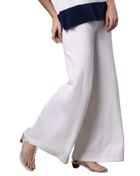 Minnie Rose Wide-Leg Palazzo Knit Pants