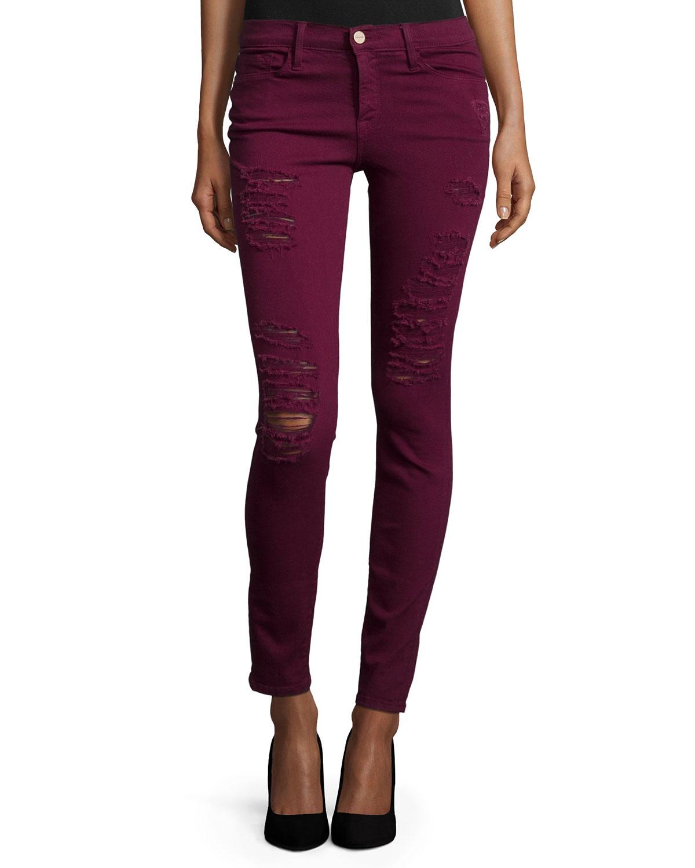 843c8cb39e3 FRAME Le Color Rip Skinny Jeans