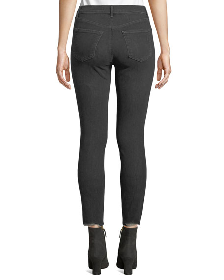 Alana High-Rise Crop Skinny Jeans, Gray