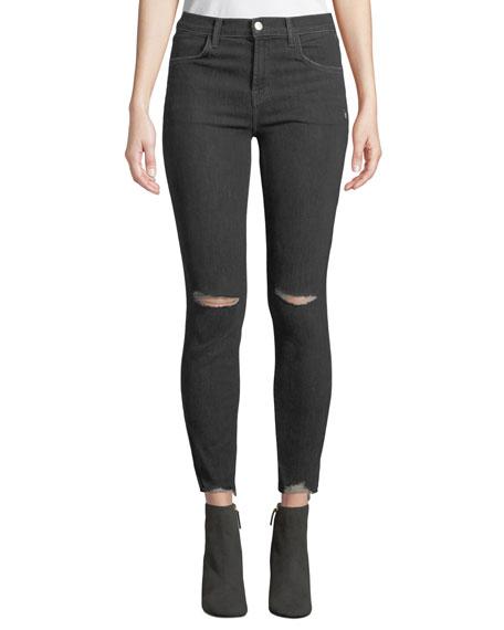 J Brand Alana High-Rise Crop Skinny Jeans, Gray