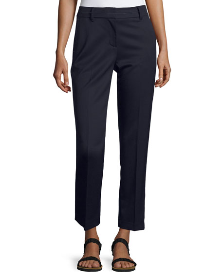 GREY Jason Wu Topstitched Cigarette Ankle Pants, Navy